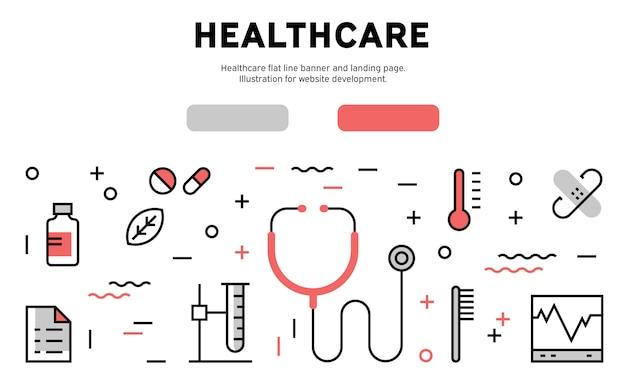 Gesundheitswesen web infografik