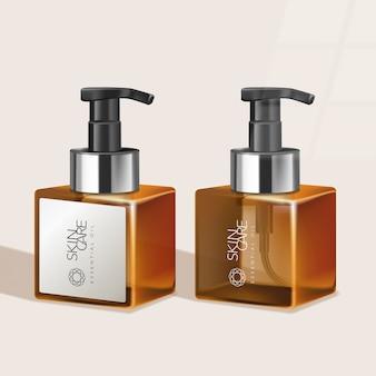 Getönte flasche für hautpflege- / gesundheits- / haarpflegeprodukte