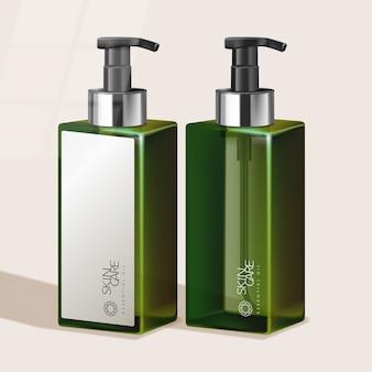 Getönte hohe pumpflasche für haarpflege- / hautpflege- / gesundheits- / körperpflegeprodukte