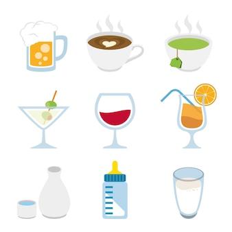 Getränke alkoholisches getränk wasser milch bier kaffee saft grüner tee wein