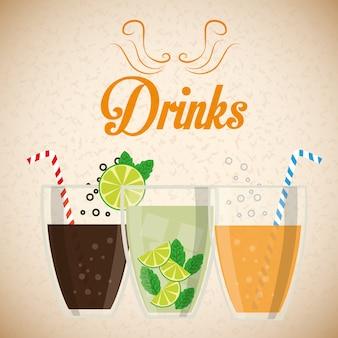 Getränke gläser konzeptdesign