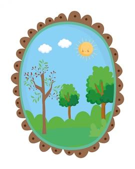 Getrennte auszugs- und jahreszeitbäume