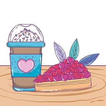 Getrennte gefrorene kaffeetasse