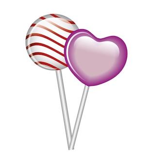 Getrennte Ikone der Lutschersüßigkeit süße