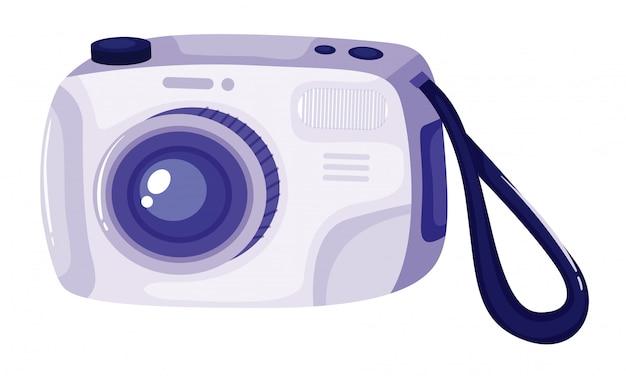 Getrennte kamera in der blauen farbe