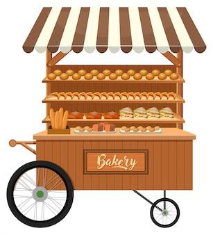 Getrennter hölzerner bäckereistall