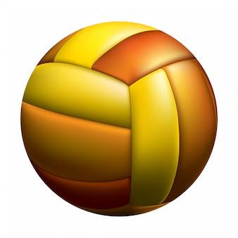 Getrennter volleyballball