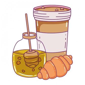 Getrenntes honigglas