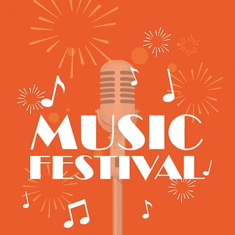 Getrenntes mikrofon des musikfestivals