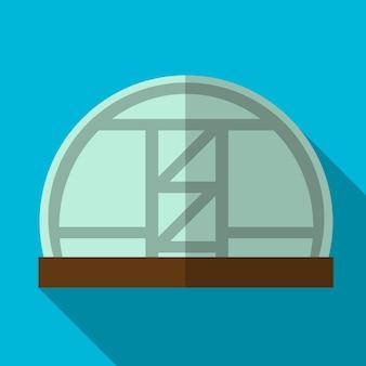 Gewächshaus flachbild symbol isoliert vektor-zeichen-symbol