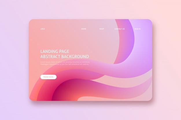 Gewellte abstrakte landing page