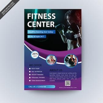 Gewellte Fitness-Studio-Cover-Vorlage