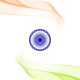 Gewellte indische flagge thema hintergrund