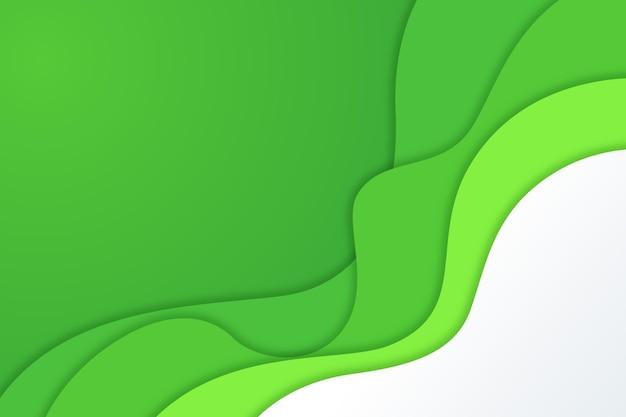 Gewellter hintergrund der papierart grüner steigung