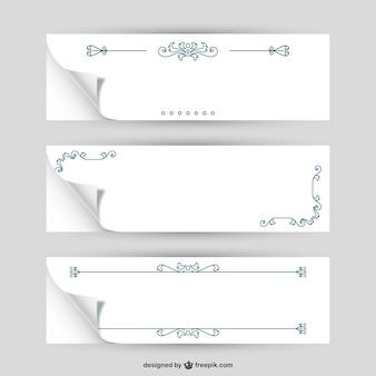 Gewelltes papier mit ornamenten
