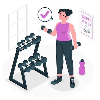 Gewichte konzept illustration
