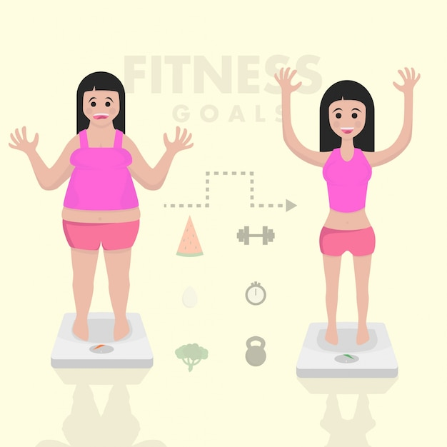 Gewichts-eignungs-illustration verlieren