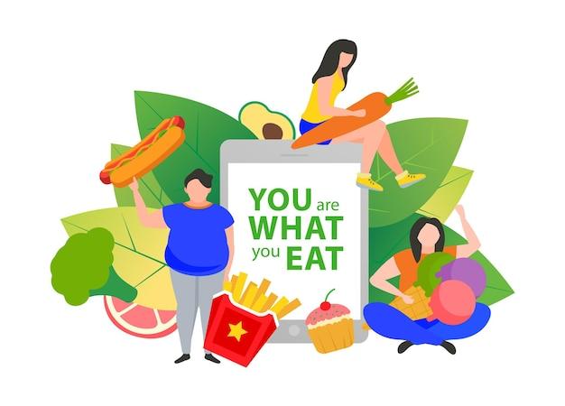 Gewichtsverlust konzept gesunde ernährung diät gewichtsmanagement diät individueller diätservice