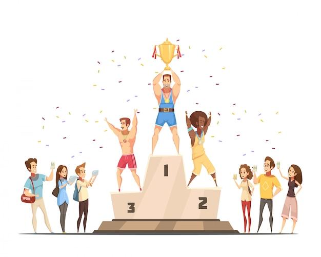 Gewinner des podiums