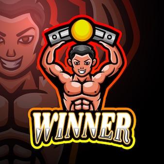 Gewinner esport logo maskottchen design