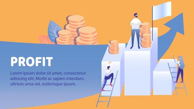 Gewinnwachstum, einkommen erhöhen banner-vorlage