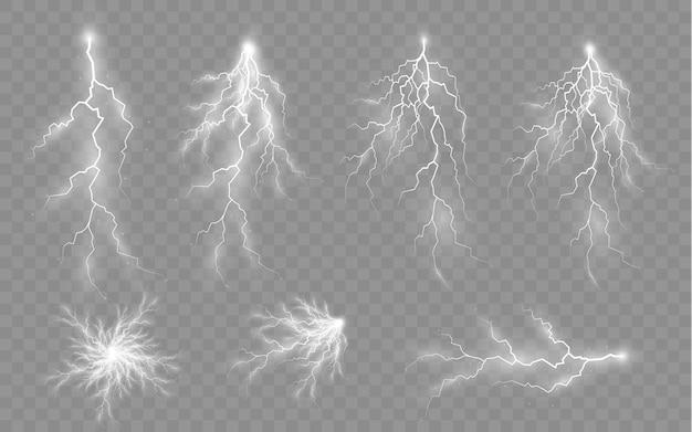 Gewitter und blitz