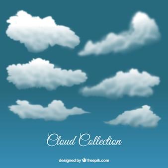 Gewitterwolken in realistischen stil