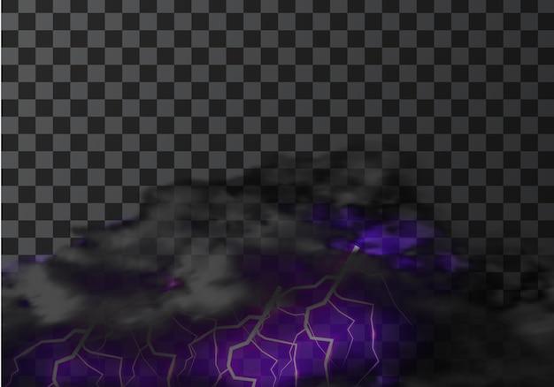 Gewitterwolkenblitz auf transparent