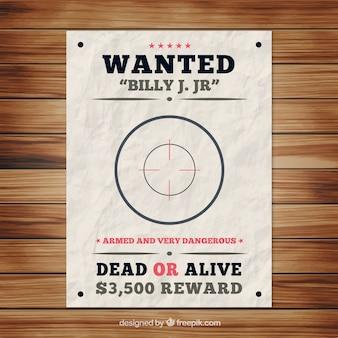 Gewünschtes plakat vorlage mit bullseye