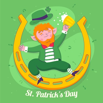 Gezeichnet st. patrick's day illustration