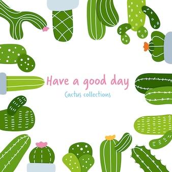 Gezeichnete art des kaktusraumes hand