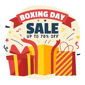 Gezeichnete boxing day sale geschenke