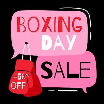 Gezeichnete geschenke des boxing day sale-ereignisses