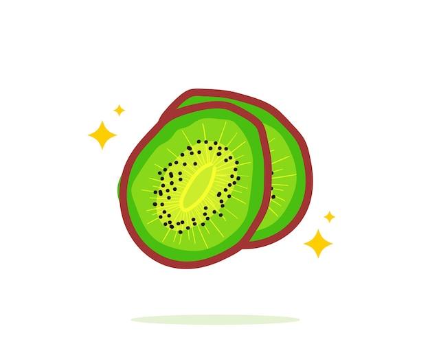 Gezeichnete karikaturkunstillustration der kiwifrucht hand