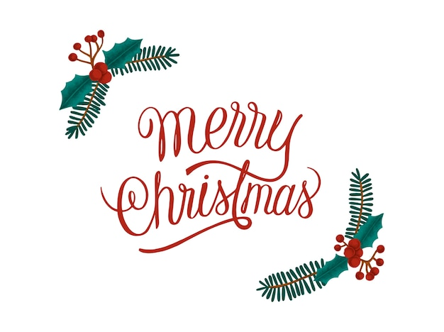 Gezeichnete karte der frohen weihnachten hand