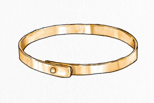 Gezeichnete modeillustration des modernen armbandvektors der frauen hand