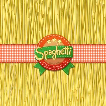 Gezeichnete spaghetti und etiketten für sie