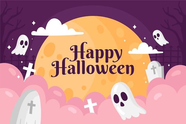 Gezeichnete tapete für halloween-veranstaltung