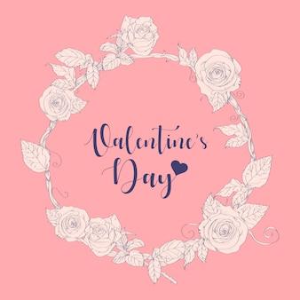 Gezeichnete vektorillustration des valentinstags hand.