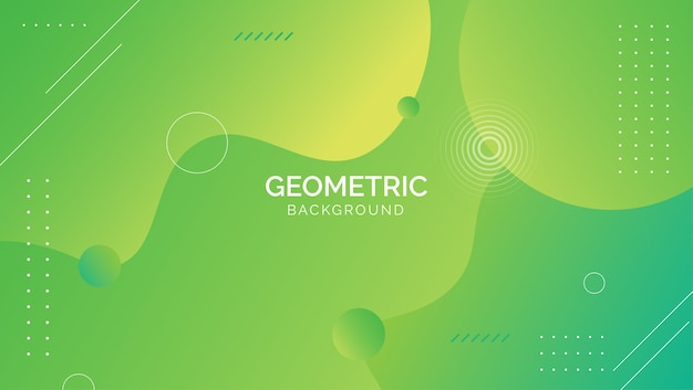 Gezeichneter grüner blauer abstrakter geometrischer hintergrund