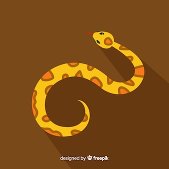 Gezeichneter schlangenhintergrund der draufsicht hand