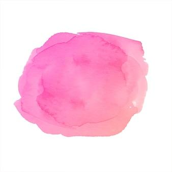 Gezeichneter spritzerhintergrund des weichen rosa aquarells hand