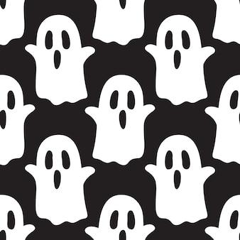 Ghost gruseliges halloween nahtloses muster