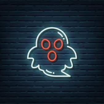 Ghost neon sign vektorelemente