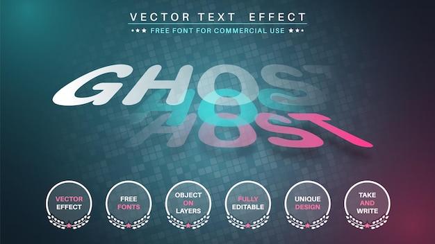 Ghost-texteffekt-schriftart bearbeiten