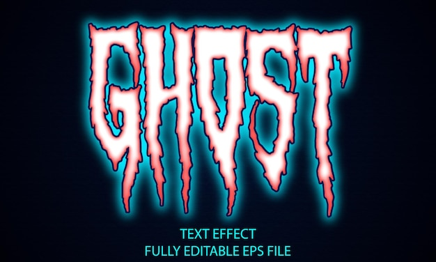 Ghost vollständig bearbeitbarer texteffekt