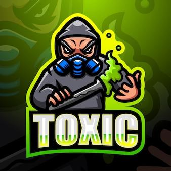 Giftige maskottchen-esportillustration