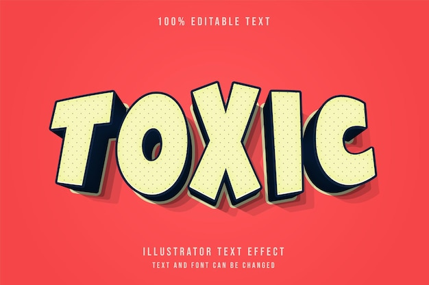 Giftiger, bearbeitbarer 3d-texteffekt-creme-abstufungs-orange-schatten-comic-textstil