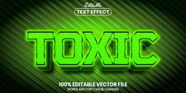 Giftiger text, bearbeitbarer texteffekt im schriftstil