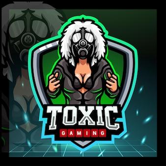 Giftiges mädchen maskottchen esport logo-design